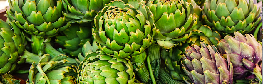 Alcachofas, verduras, restaurante, 9 Granados