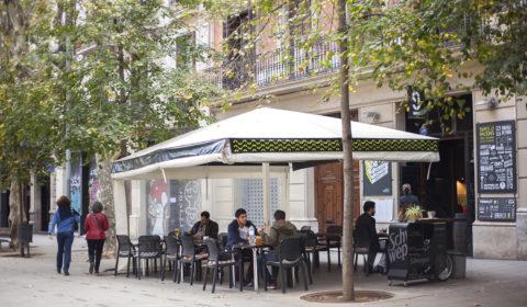 Terraza peatonal